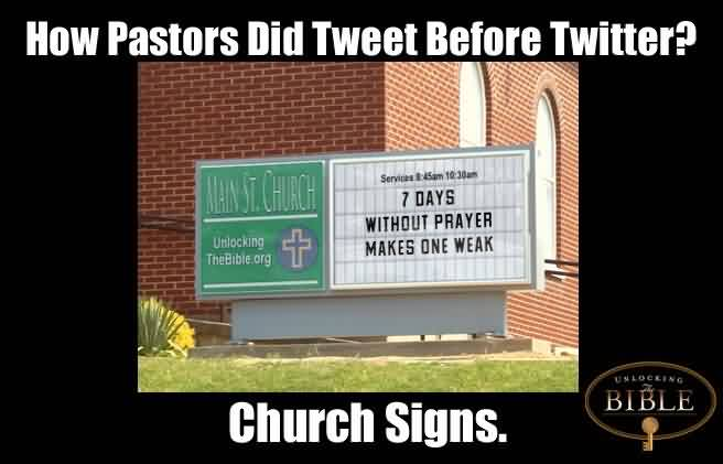 Nice  Church Quote ~How pastors did tweet before twitter.