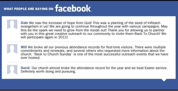 Nice Church Quote ~ What people Are saying on Facebook.