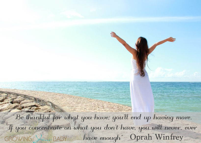 Nice Clarity Quote By Oprah Winfrey ~ Be thankful for what you have .