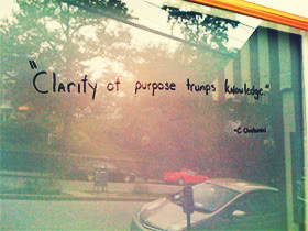 Nice Clarity Quotes  Clarity At Purpose Trumps Knowledge.