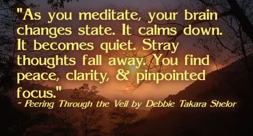 NIce Clarity Quotse By Debbie Takara Shelor ~ As you meditate, Your brian changes state…