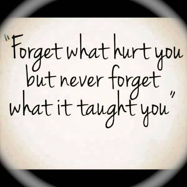 Nice Graduation Quote~ Forget What hurt you but never forget what it taught you.