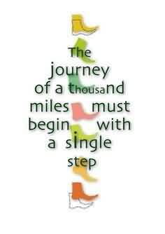 Nice Graduation Quotes ~The Journey Of A Thousand Miles Must Begin With A Single Step.