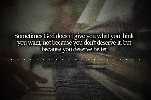 Nice Life Quotes Images-God gives you better than you deserve
