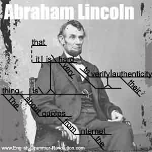 Popular Celebrity Quote ~ Abraham Lincoln