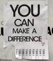 Popular Charity Quote ~ You can make a difference
