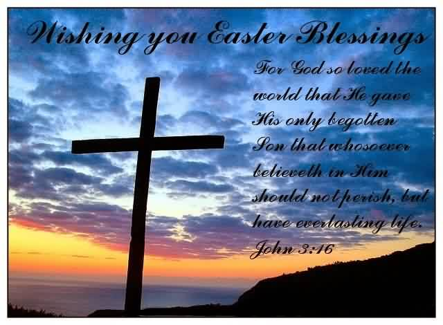 Popular Church Quote ~ Wishing you easter blessings.