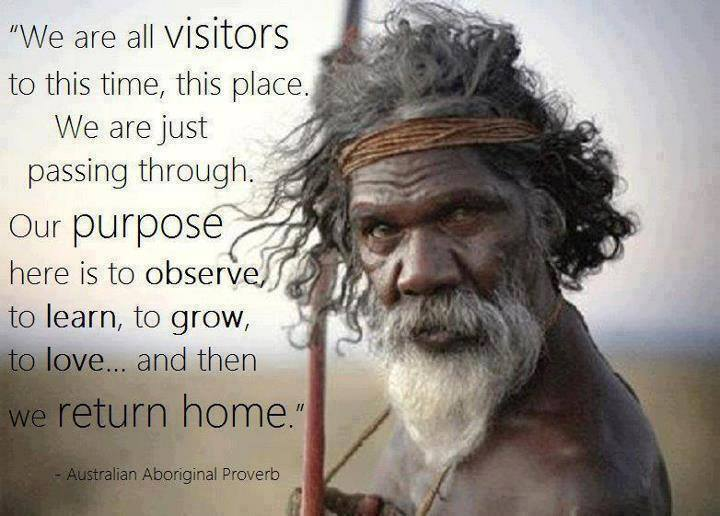 Popular Clarity Quotes ~ We are all Visitors to this time, this place …