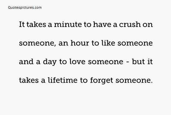 Quotes about Life Image - It takes lifetime to forget someone special