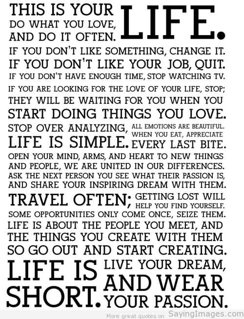 Quotes about Life Images-Do what you Love in your Life