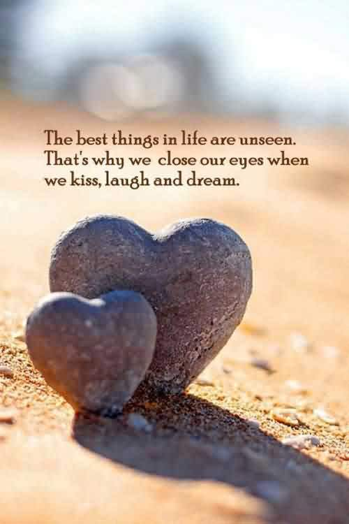 Quotes about Life Images - The best things in Life are unseen