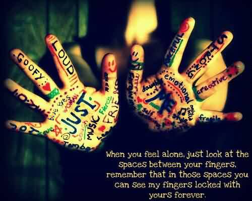 Romantic Love Life Quotes - You can see my fingers locked with yours fingers forever