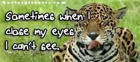 Short funny quotes images for fb - Sometimes when i close my eyes i can't see