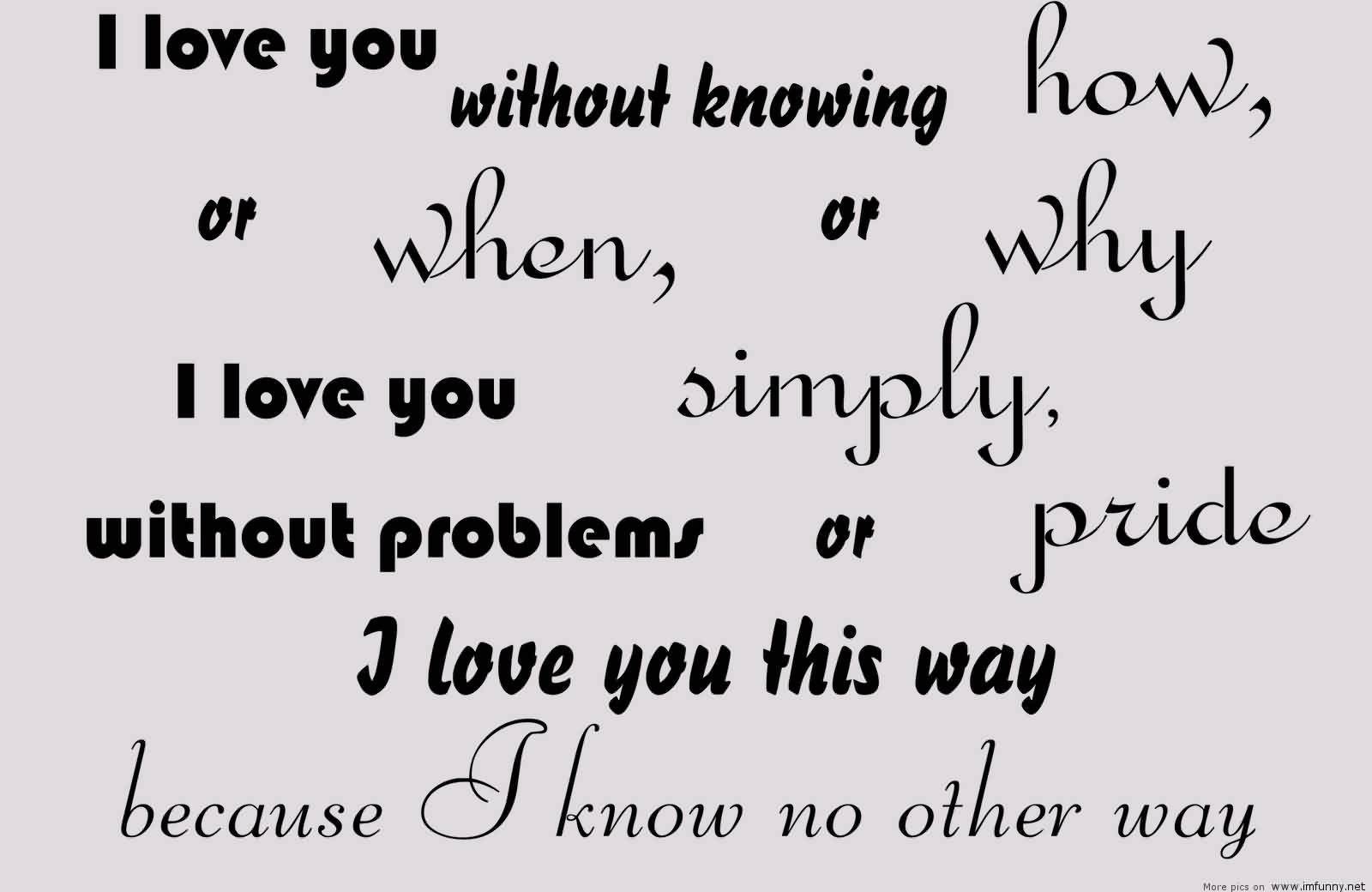 Funny I Think I Love You Quotes : Funny I Love You Quote