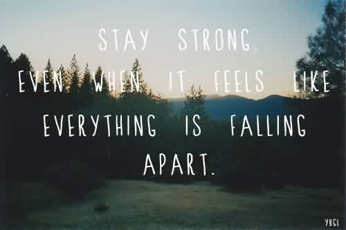 Short Life Quotes Images-Stay Strong - Quotespictures.com