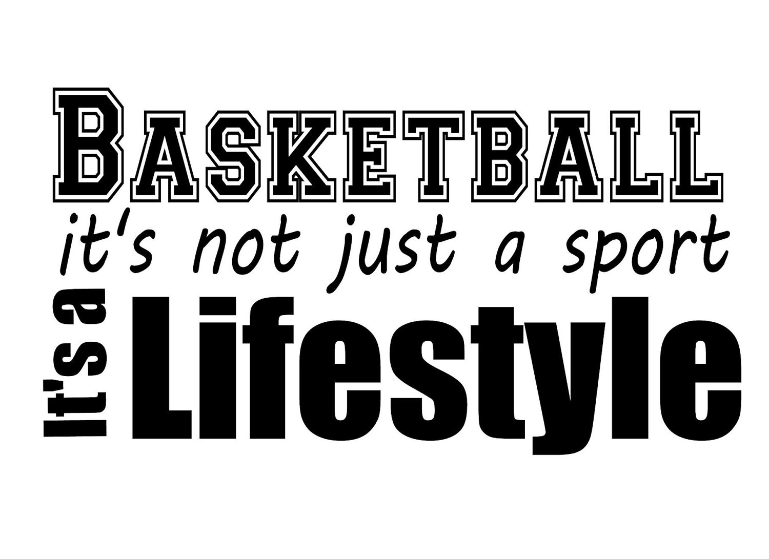 Basketball Life Style Quotes Is Not Just A Game Its Lifestyle