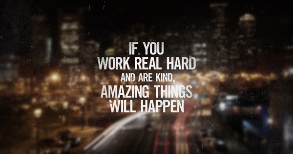 Best Motivational Picture Quote About Hard Work  -
