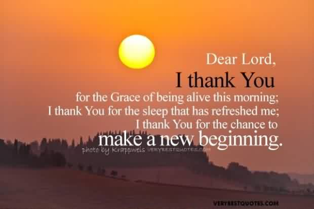 Best Thank You Good Morning God Quotes For Life I Thank You For