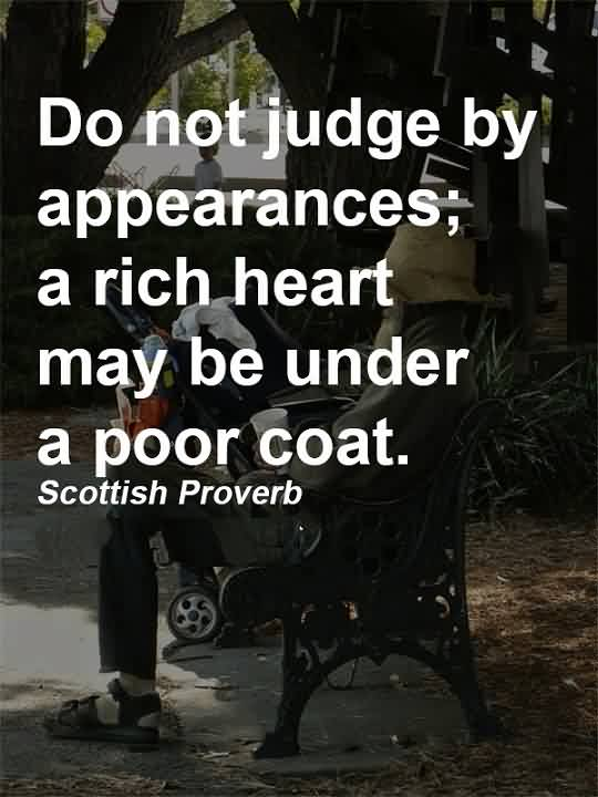 Do not judge people by their appearance essay