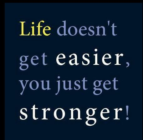 Life Doesn't Get Easier You Just Get Stronger Motivational Life Mesmerizing Motivational Messages