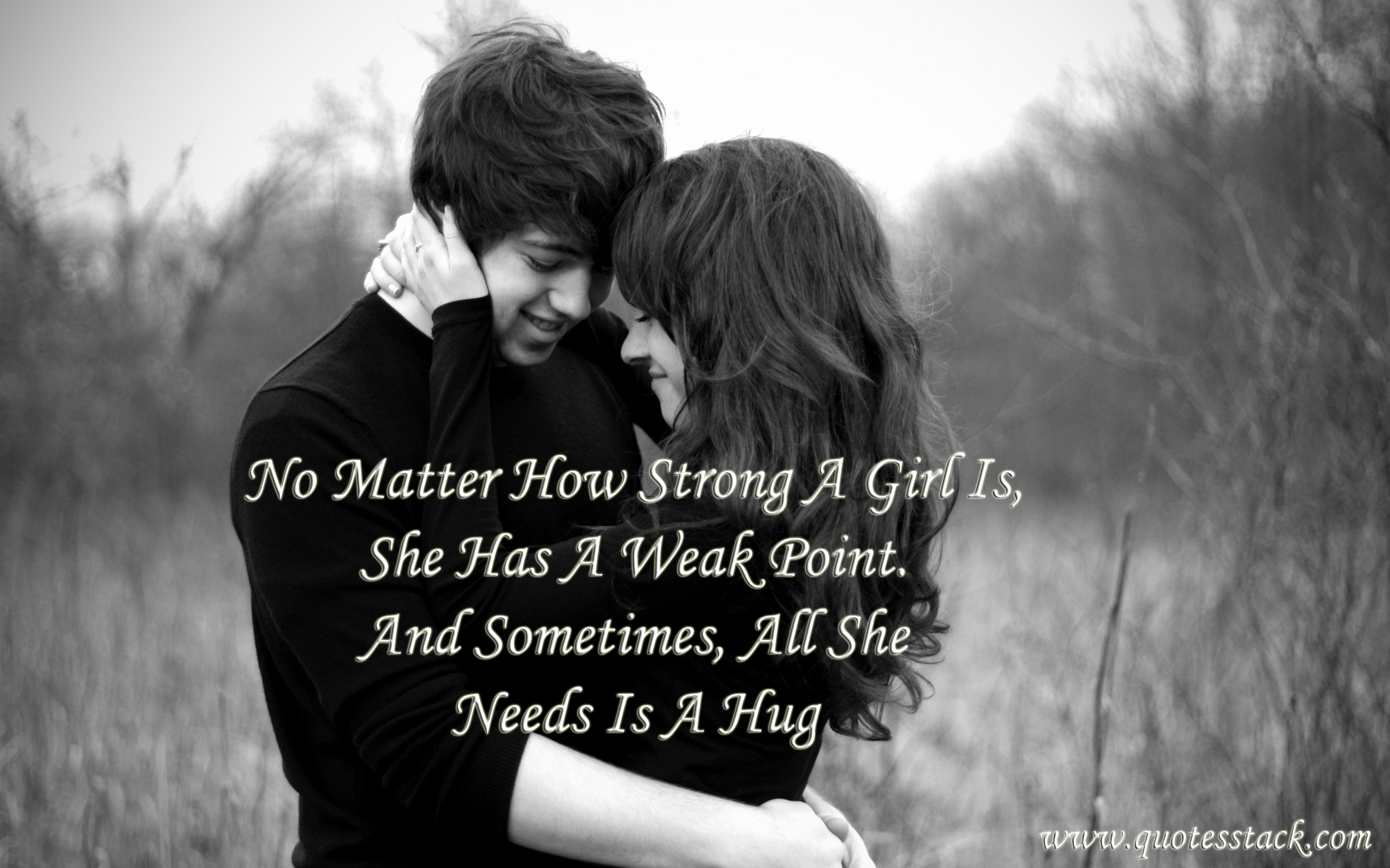 Cute Love Hug Quotes For Girls – All She Need Is A Hug ...