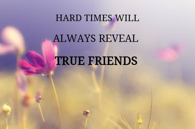 Friends during hard times true How To
