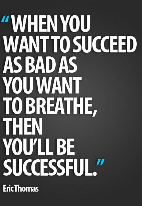Great Motivational Quotes Classy Great Motivational Quote About Success By Eric Thomas When You