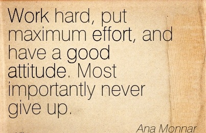 Motivational Work Quote By Ana Monnar Work Hard Put Maximum