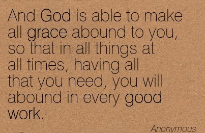 Work Quote By Anonymous And God Is Able