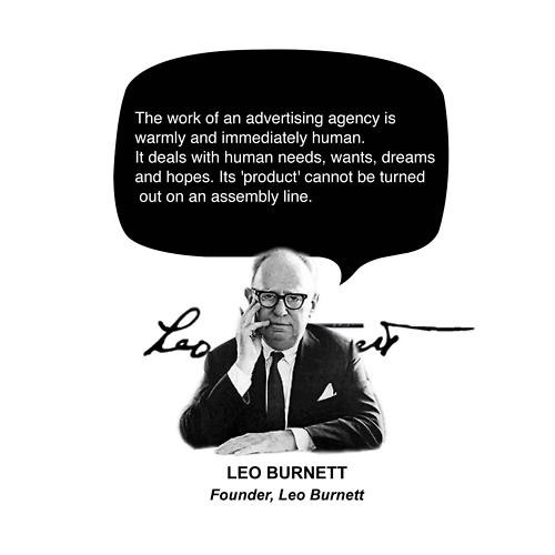 Advertisement Quotes By Leo Burnett Advertising Agency Is Warmly