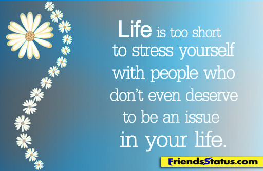 By People Quotes, Life Is Too Stress - Quotespictures com