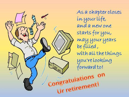 By Retirement Saying, You're Looking Forward To