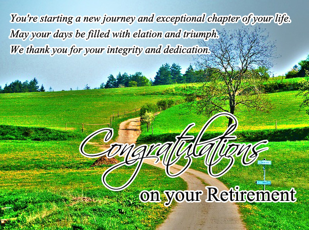Congratulations On Your Retirement With Best Wishes