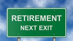 Sign To Retirement Next To Exit