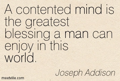a contented mind is a blessing essay