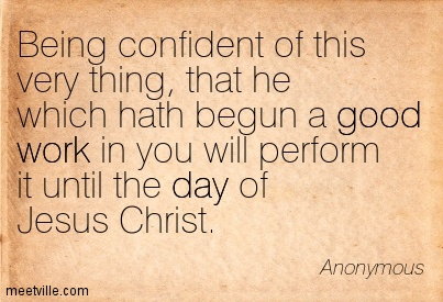 being confident in christ