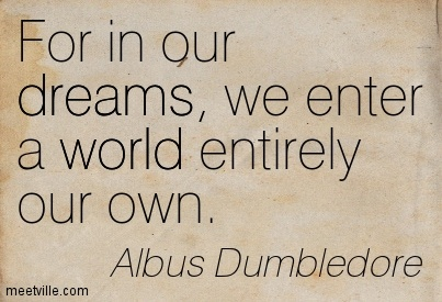 For In Our Dreams We Enter A World Entirely Our Own