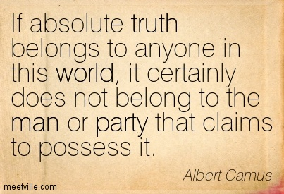 absolute truth in autobiography does it In general, absolute truth is whatever is always valid, regardless of parameters or context the absolute in the term connotes one or more of: a quality of truth that cannot be exceeded complete truth unvarying and permanent truth it can be contrasted to relative truth or truth in a more ordinary.