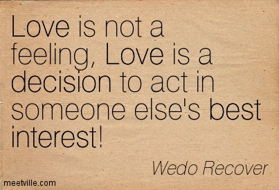 is love a feeling or a decision