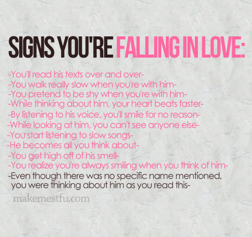 Signs You're Falling In Love You'll Read His Texts Over And Over Interesting Best Quote On Love