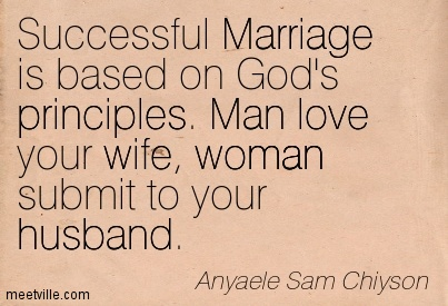 Successful Marriage Is Based On Gods Principles Man Love Your Wife