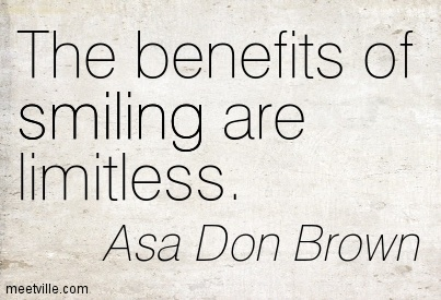 The benefits of smiling are limitless.