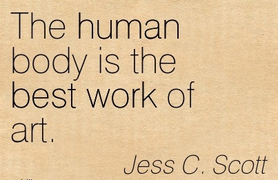 Great Body Quote By Jess C Scott Human Body Is Best Work Of Art Quotespictures Com
