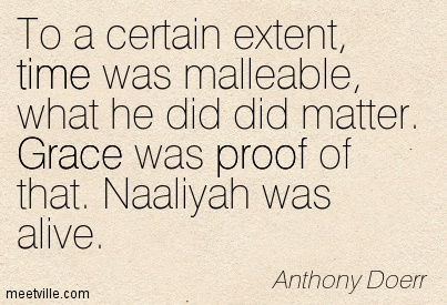 To a certain extent, time was malleable, what he did did matter. Grace was proof of that. Naaliyah was alive.