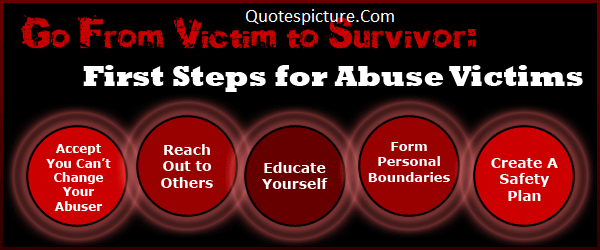 Abuse Quotes - Steps Of Abuse Victims