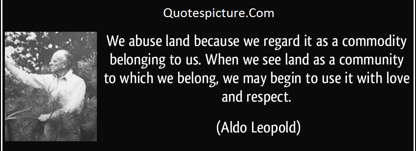 Abuse Quotes - We Abuse Land Because We Regard It As A Commodity By Aldo Leopold