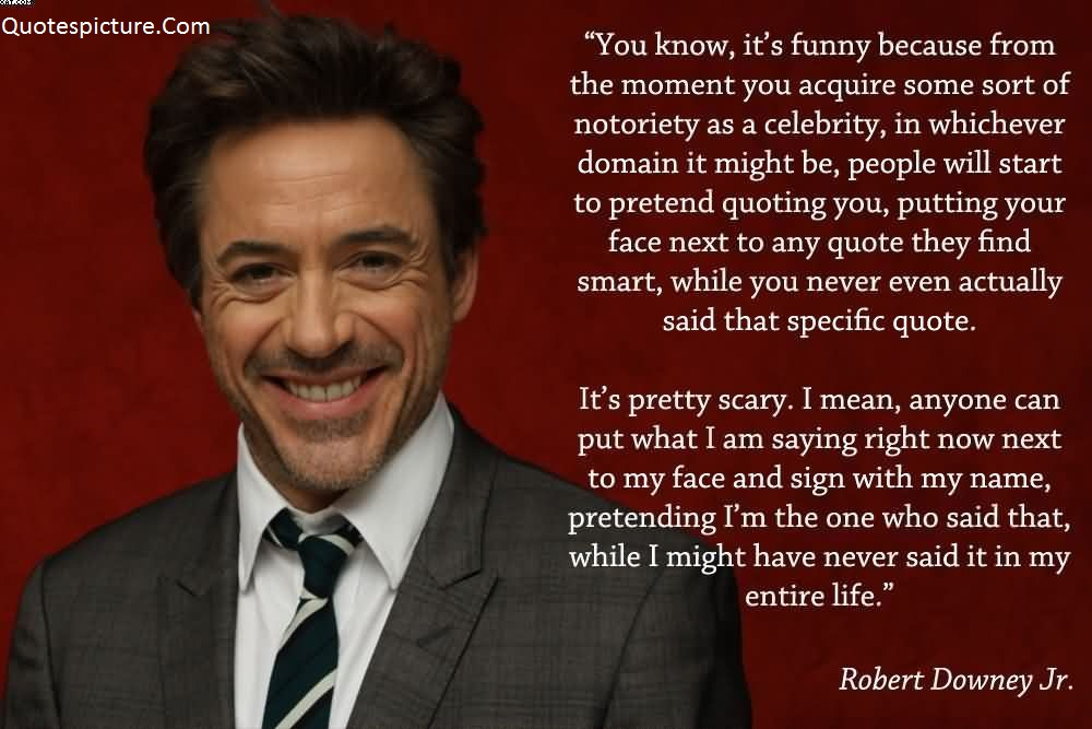 Acting Quotes   Great Acting Quotes Lines By Robert Downey Jr.