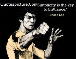 Acting Quotes - Success Key Of Simplicity By Bruce Lee