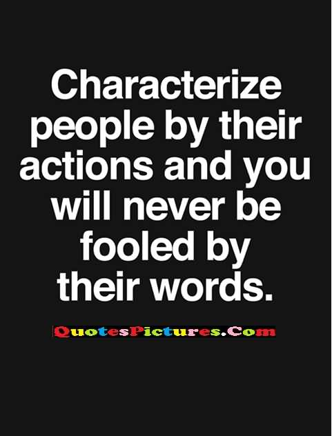 action characterize people
