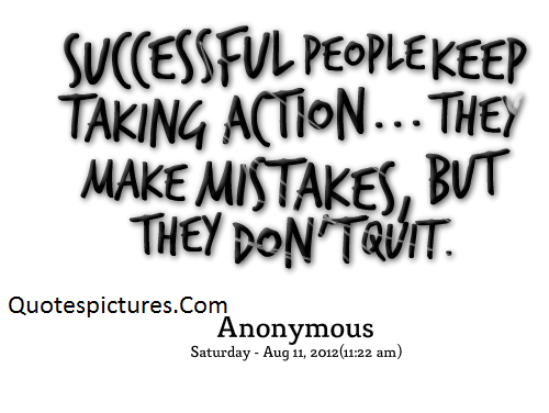 Action Quotes - Successful People Keep Talking Action By Anonymous